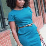 Outfit: Teal Peplum Dress