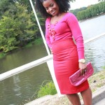 Outfit: Fuchsia and Red