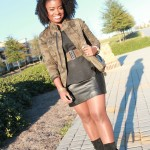 Outfit: Loving Lately…Camouflage & Leather!