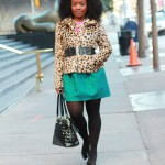 Outfit: Pink, Green, and Leopard on Leopard
