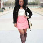 Outfit: Chocolate, Coral, and Sequins
