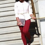 Outfit: Peplum and Oxblood