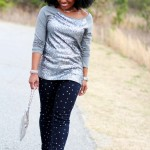 Outfit: Sequins and Polka Dot