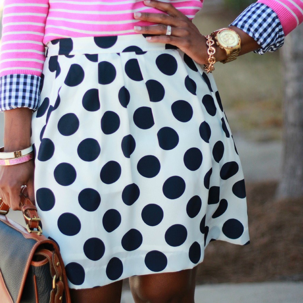 Outfit Navy Amp Pink In Polka Dots Stripes And Gingham