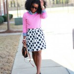 Outfit: Navy & Pink in Polka dots, Stripes, and Gingham