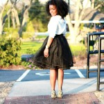 Outfit: Black Tulle Skirt