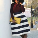 Outfit: Oxblood & Navy Stripes