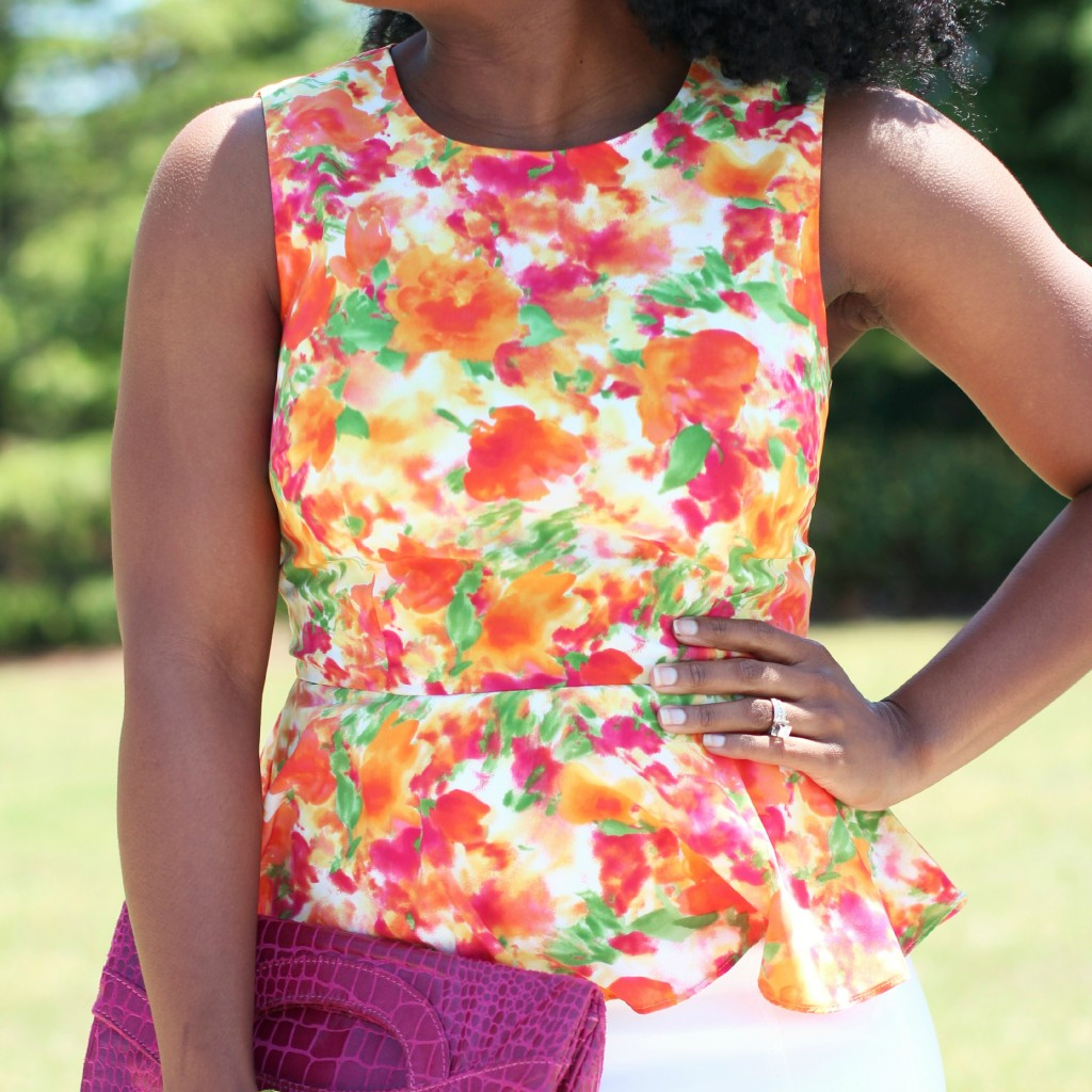 The Serena Saga Floral Peplum 6 square