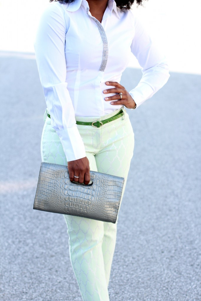 The Serena Saga Mint Green Pants