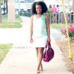 Outfit: Minty Sequins and Fuchsia