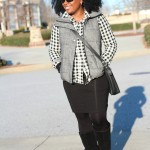 Outfit: Gingham and Tweed Puffer Vest & Tax Day Giveaway